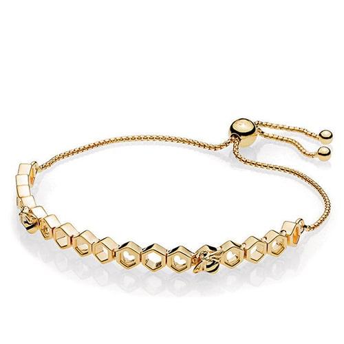 золотой браслет пандора фотография