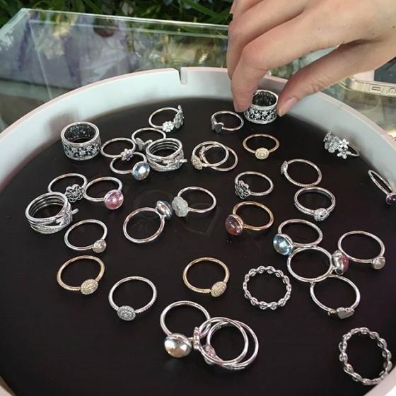 Pandora - купить весенние кольца из коллекции 2016