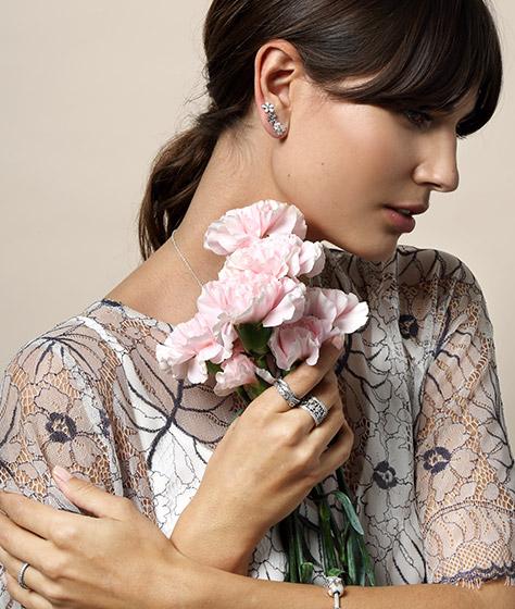 Весна Pandora коллекция кольца цветы